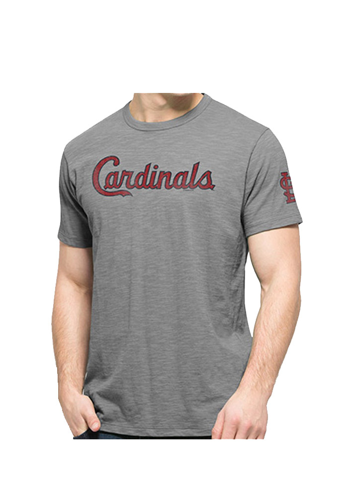 47 St Louis Cardinals Grey Two Peat Short Sleeve Fashion T Shirt - Image 1