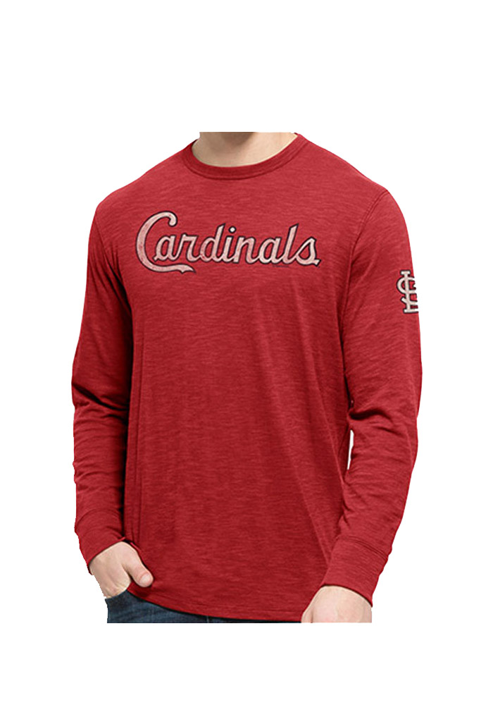 47 St Louis Cardinals Red Two Peat Long Sleeve Fashion T Shirt - Image 1