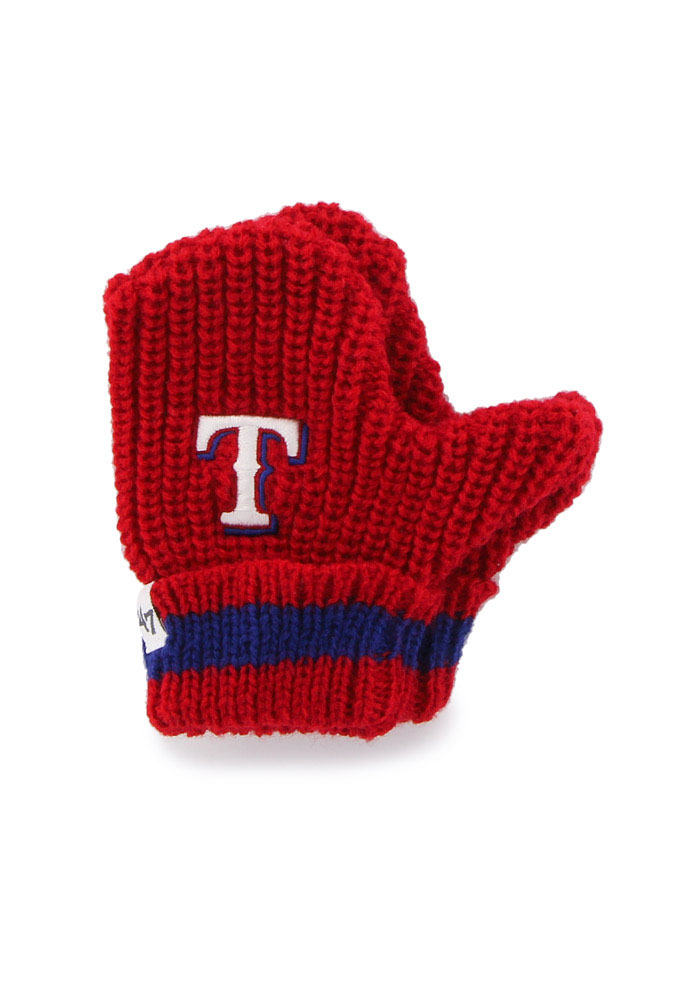47 Texas Rangers Baby Rae Infant Baby Mittens - Image 1