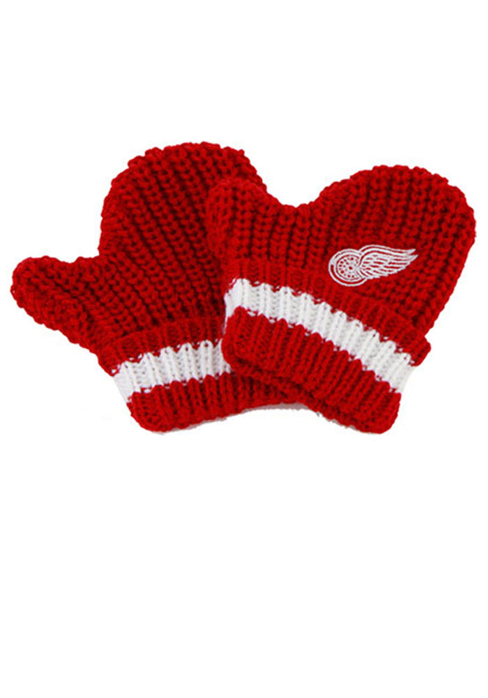 '47 Detroit Red Wings Baby Rae Toddler Baby Mittens - Image 1