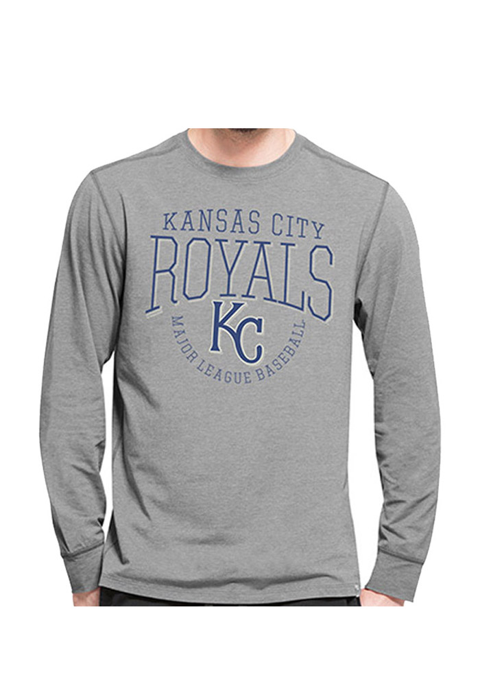 47 Kansas City Royals Grey Cadence Long Sleeve T-Shirt - Image 1