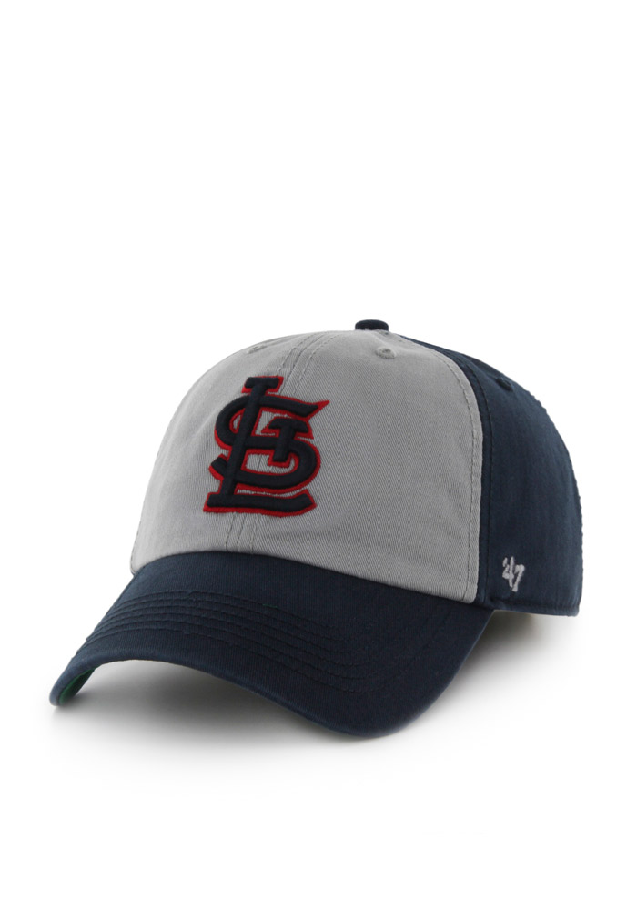 '47 St Louis Cardinals Mens Navy Blue Sophomore `47 Franchise Fitted Hat - Image 1