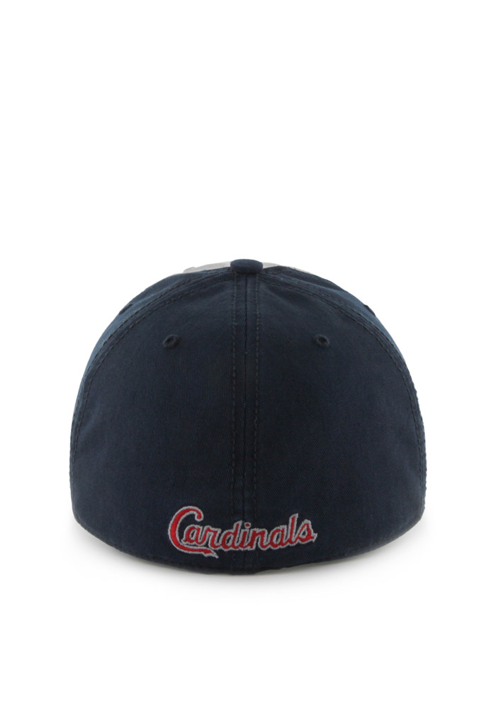 '47 St Louis Cardinals Mens Navy Blue Sophomore `47 Franchise Fitted Hat - Image 2