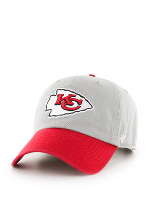 '47 Kansas City Chiefs Mens Grey Clean Up Adjustable Hat