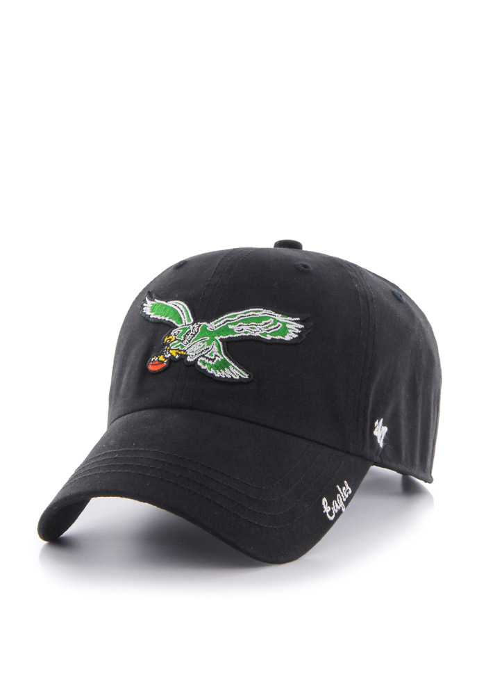 '47 Philadelphia Eagles Black Miata Clean Up Womens Adjustable Hat - Image 1
