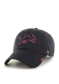 47 Detroit Lions Womens Black Miata Clean Up Adjustable Hat