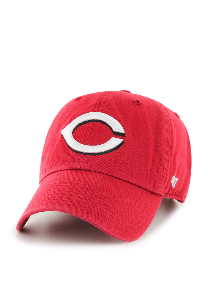 Cincinnati Reds Red Clean Up Youth Adjustable Hat - Image 1