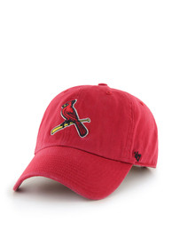 reputable site 7b8c9 0fdfd St Louis Cardinals Red Clean Up Youth Adjustable Hat