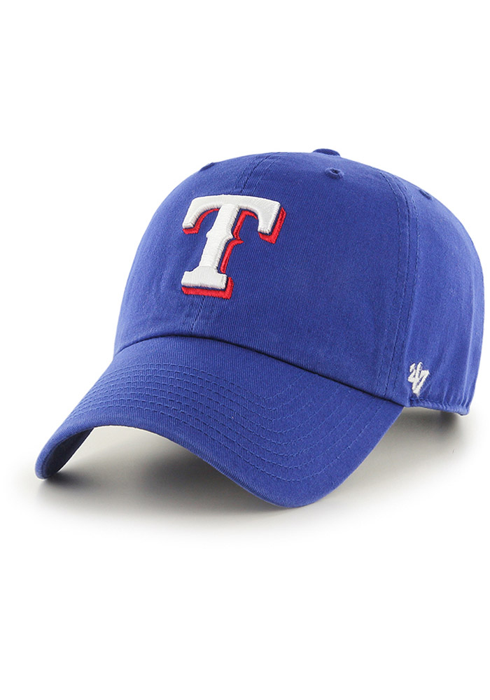 Texas Rangers Blue Clean Up Youth Adjustable Hat - Image 1