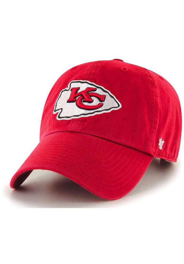 '47 Kansas City Chiefs Red Clean Up Youth Adjustable Hat - Image 1