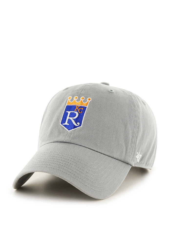 '47 Kansas City Royals Grey Clean Up Adjustable Toddler Hat - Image 1