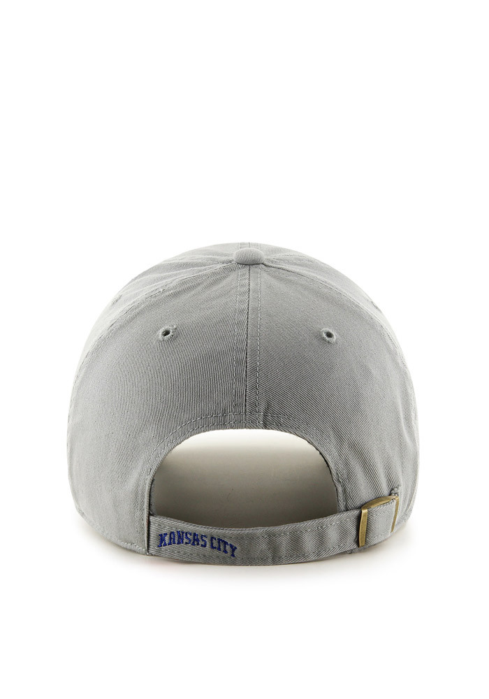 '47 Kansas City Royals Grey Clean Up Adjustable Toddler Hat - Image 2