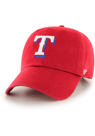 save off 4d758 caabc  47 Texas Rangers Baby Clean Up Adjustable Hat - Red