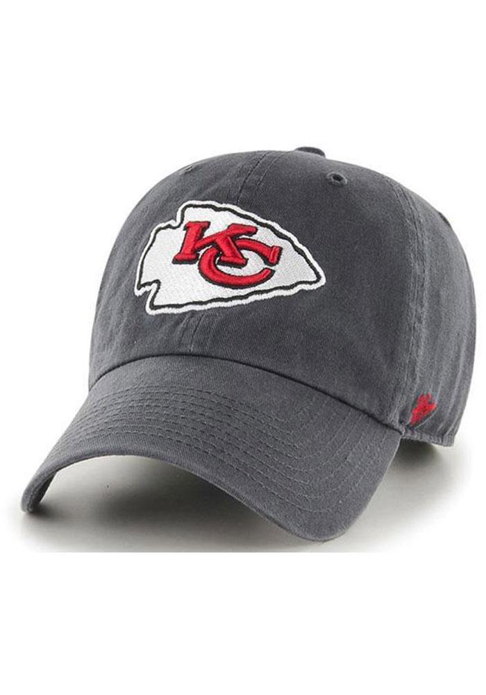 '47 Kansas City Chiefs Grey Clean Up Infant Adjustable Hat - Image 1