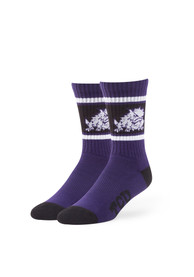 47 TCU Horned Frogs Mens Purple Duster Crew Socks