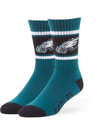 '47 Philadelphia Eagles Mens Midnight Green Duster Crew Socks