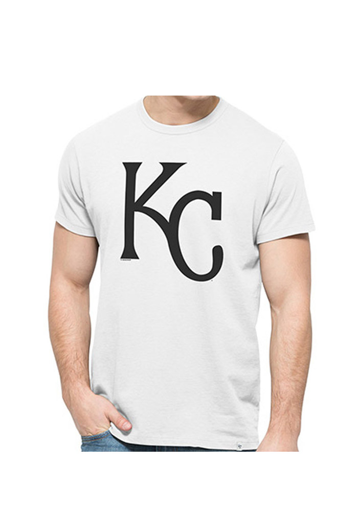 '47 Kansas City Royals Mens White Black and White Short Sleeve Fashion T Shirt - Image 1