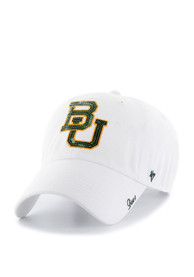 47 Baylor Bears Womens White Sparkle Clean Up Adjustable Hat