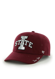 '47 Iowa State Cyclones Red Sparkle Clean Up Adjustable Hat