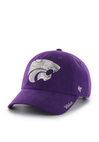 finest selection ac6f6 7c4aa  47 K-State Wildcats Womens Purple Sparkle Clean Up Adjustable Hat