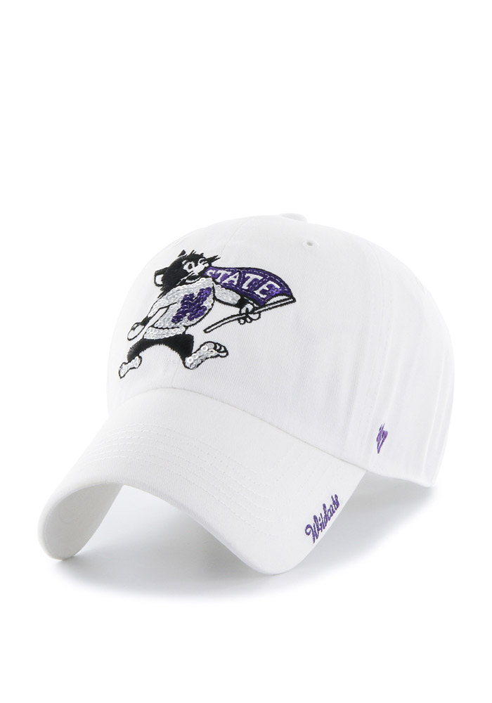 '47 K-State Wildcats White Sparkle Clean Up Womens Adjustable Hat - Image 1