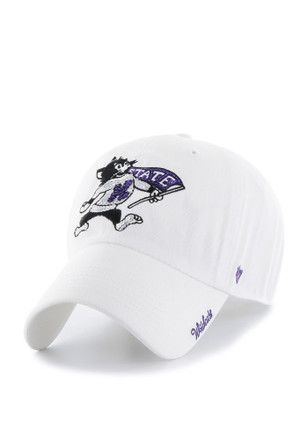 '47 K-State Wildcats White Sparkle Clean Up Adjustable Hat