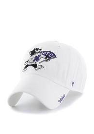 newest 3d919 7db9a  47 K-State Wildcats Womens White Sparkle Clean Up Adjustable Hat