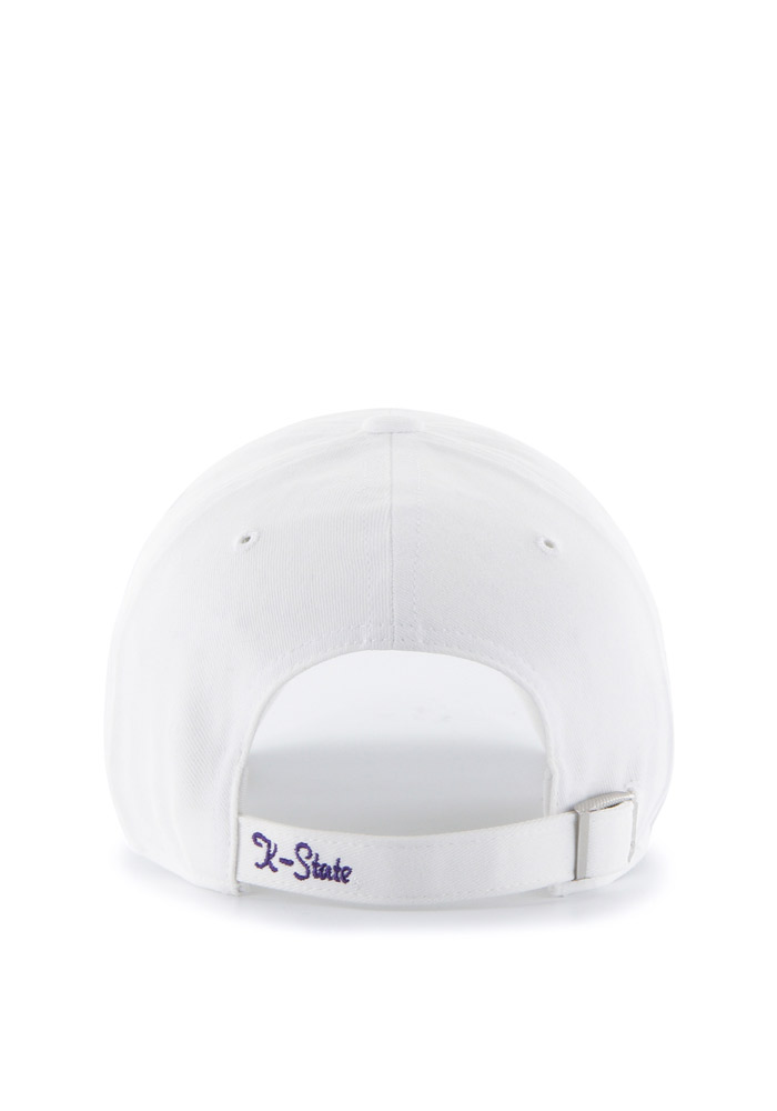 '47 K-State Wildcats White Sparkle Clean Up Womens Adjustable Hat - Image 2