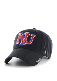 47 Kansas Jayhawks Womens Navy Blue Sparkle Clean Up Adjustable Hat