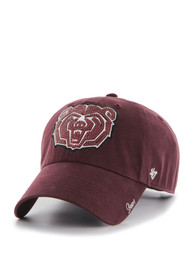 47 Missouri State Bears Womens Maroon Sparkle Clean Up Adjustable Hat