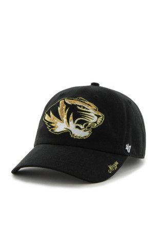 '47 Missouri Tigers Black Sparkle Clean Up Adjustable Hat