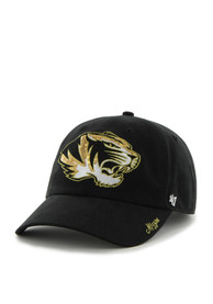 47 Missouri Tigers Womens Black Sparkle Clean Up Adjustable Hat