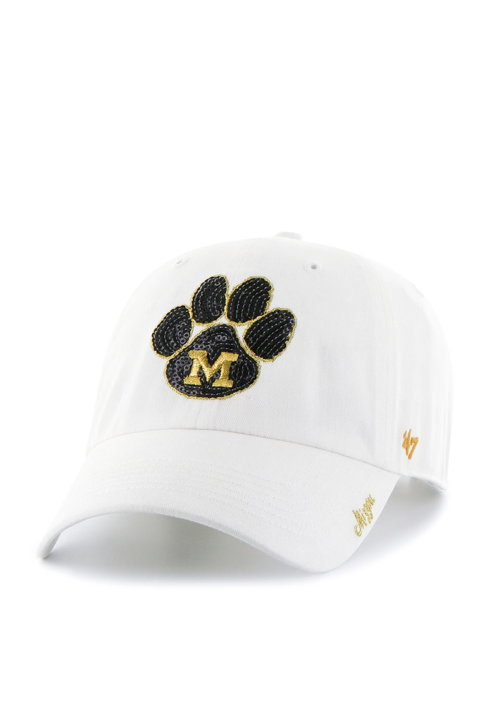 '47 Missouri Tigers White Sparkle Clean Up Womens Adjustable Hat - Image 1