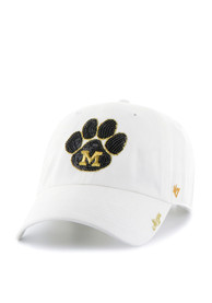 47 Missouri Tigers Womens White Sparkle Clean Up Adjustable Hat