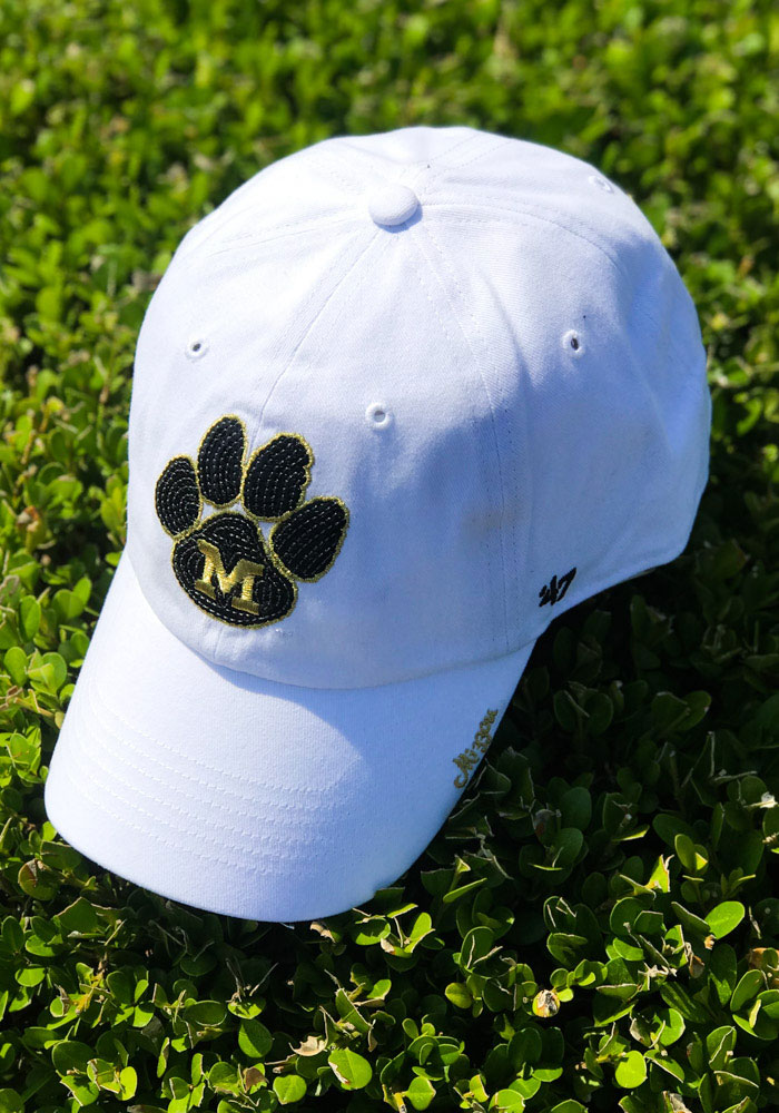 '47 Missouri Tigers White Sparkle Clean Up Womens Adjustable Hat - Image 3