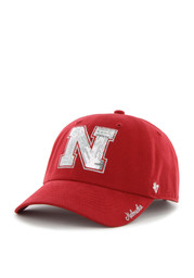'47 Nebraska Cornhuskers Red Sparkle Clean Up Adjustable Hat