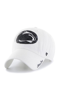 47 Penn State Nittany Lions Womens White Sparkle Clean Up Adjustable Hat