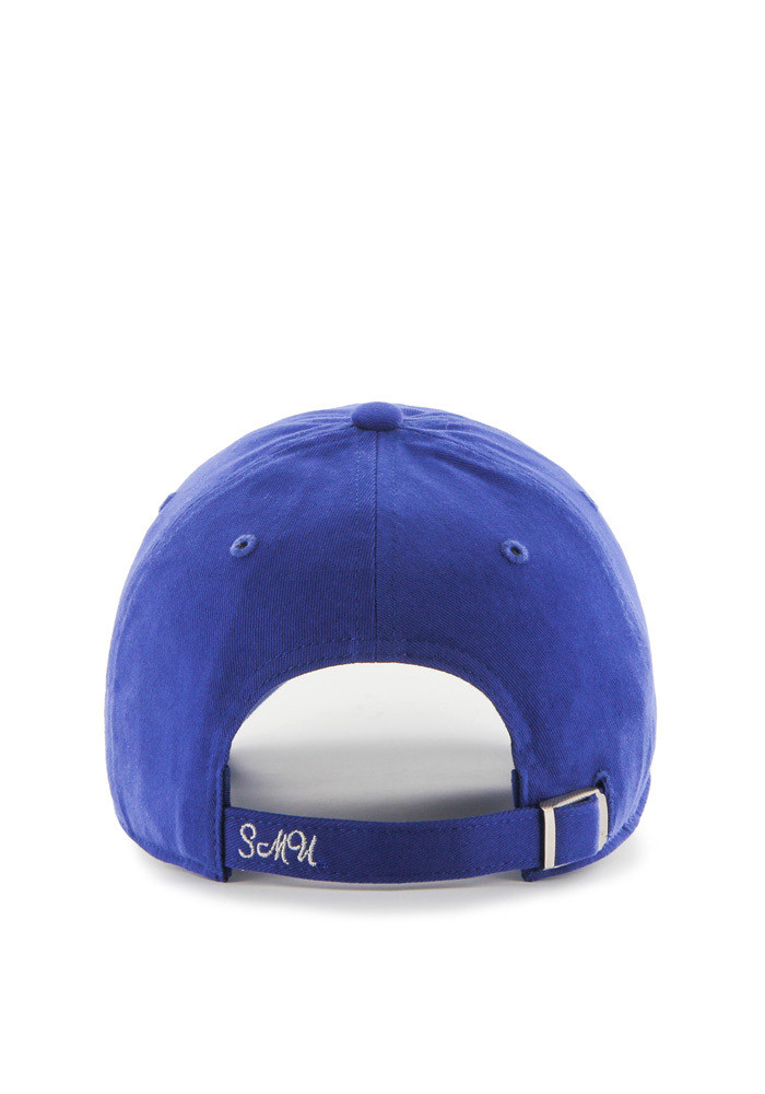 '47 SMU Mustangs Blue Sparkle Clean Up Womens Adjustable Hat - Image 2