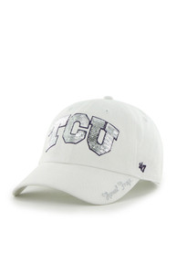 47 TCU Horned Frogs Womens White Sparkle Clean Up Adjustable Hat