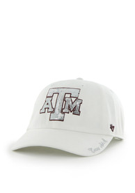 47 Texas A&M Aggies Womens White Sparkle Clean Up Adjustable Hat