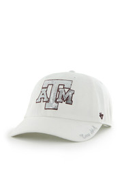 47 Texas A&M Aggies White Sparkle Clean Up Womens Adjustable Hat