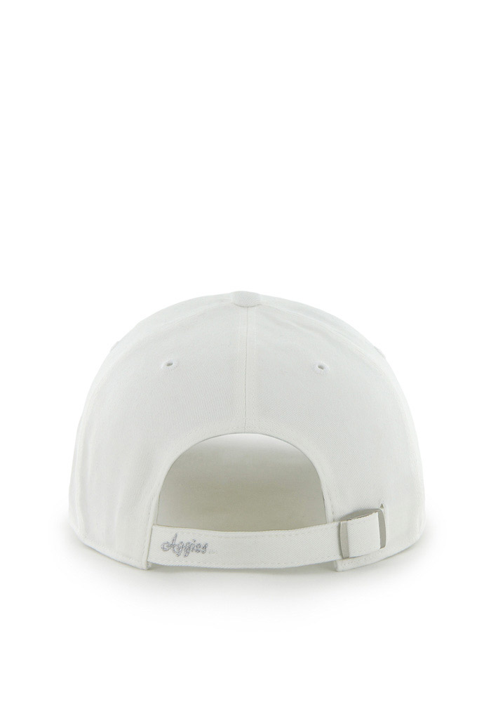'47 Texas A&M Aggies White Sparkle Clean Up Womens Adjustable Hat - Image 2