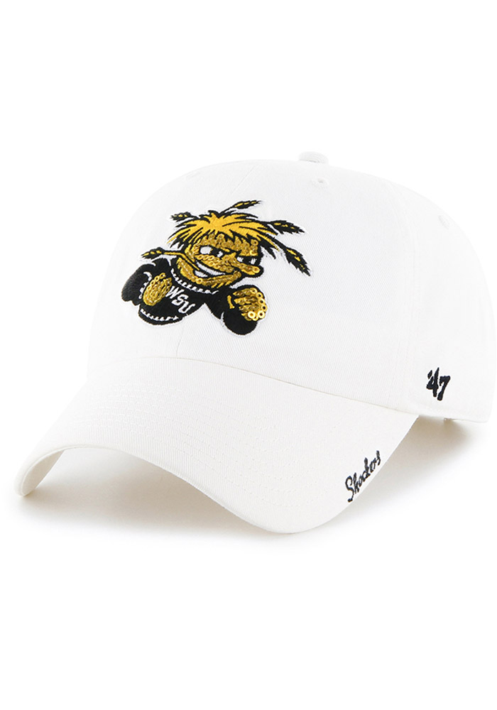 47 Wichita State Shockers Womens White Sparkle Clean Up Adjustable Hat