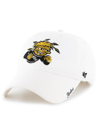 '47 Wichita State Shockers White Sparkle Clean Up Adjustable Hat