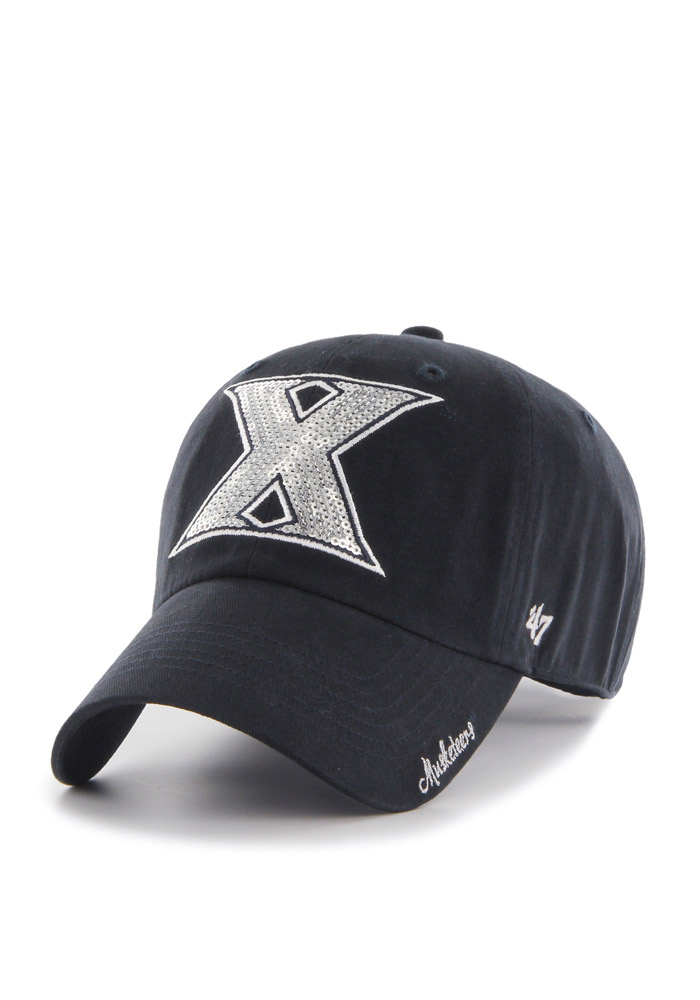 47 Xavier Musketeers Navy Blue Sparkle Clean Up Womens Adjustable Hat - Image 1
