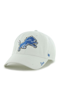 47 Detroit Lions Womens White Sparkle Clean Up Adjustable Hat