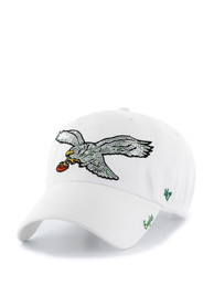 47 Philadelphia Eagles Womens White Sparkle Clean Up Adjustable Hat