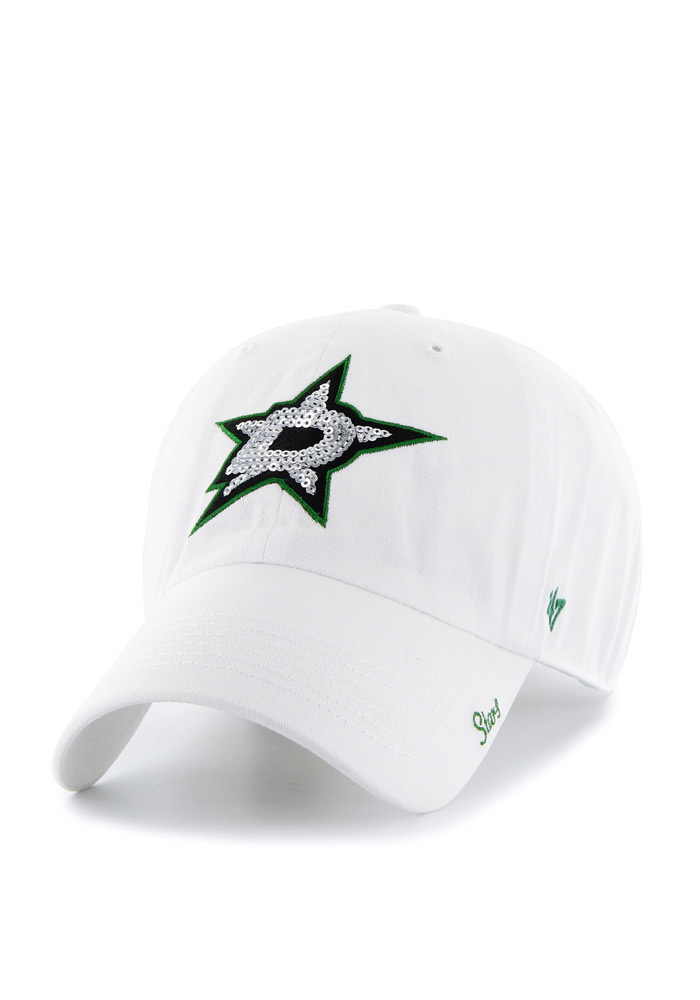 47 Dallas Stars White Sparkle Clean Up Womens Adjustable Hat - Image 1