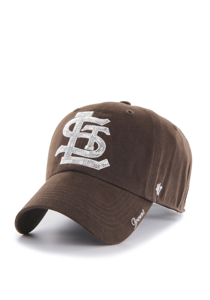 '47 St Louis Browns Brown Sparkle Clean Up Womens Adjustable Hat - Image 1