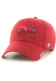 47 Arkansas Razorbacks Womens Red Miata Clean Up Adjustable Hat